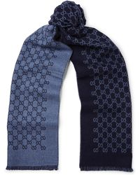 Gucci - Reversible Logo-print Wool Scarf - Lyst