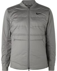 cbda6963 Nike - Aeroloft Perforated Quilted Jersey Golf Jacket - Lyst