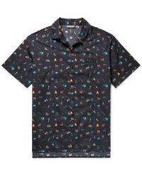 Lanvin - Camp-collar Printed Cotton Shirt - Lyst