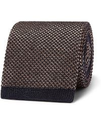 Brioni - 6cm Knitted Silk And Linen-blend Tie - Lyst