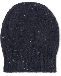 Anderson & Sheppard - Donegal Wool And Cashmere-blend Beanie - Lyst