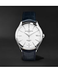 Baume & Mercier - Clifton Baumatic Automatic 40mm Stainless Steel And Alligator Watch - Lyst