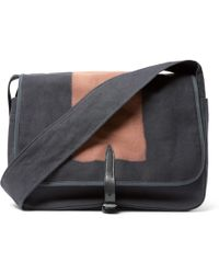 Dries Van Noten - Leather-trimmed Two-tone Canvas Messenger Bag - Lyst