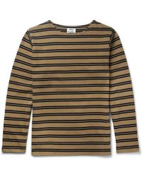Acne Studios - Nimes Striped Cotton-jersey T-shirt - Lyst