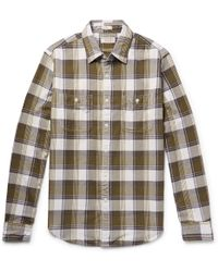 J.Crew - Wallace & Barnes Slim-fit Checked Cotton-flannel Shirt - Lyst