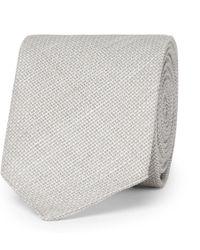 BOSS - 6cm Virgin Wool And Linen-blend Tie - Lyst