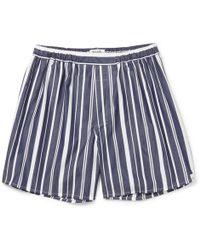 Sleepy Jones - Victor Striped Cotton Boxer Shorts - Lyst