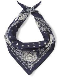 RRL - Indigo-dyed Floral-print Cotton Bandana - Lyst