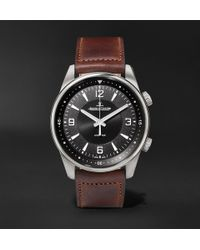 b176e78601a Jaeger-lecoultre - Polaris Automatic Stainless Steel And Leather Watch -  Lyst