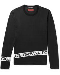 Gabbana con de logo Slim de de Dolce algodón estampado Camiseta de jersey Fit agn4COwFq
