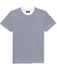 Tod's - Striped Cotton-jersey T-shirt - Lyst