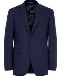 Canali - Blue Slim-fit Travel Water-resistant Wool Blazer - Lyst
