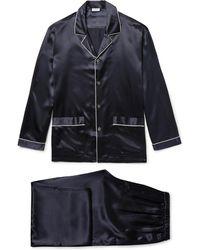 Zimmerli - Silk-satin Pyjama Set - Lyst