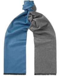 Berluti - Two-tone Chevron Mulberry Silk And Cashmere-blend Scarf - Lyst
