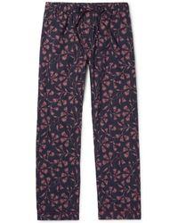 Desmond & Dempsey | Printed Cotton Pyjama Trousers | Lyst