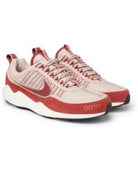 Nike - Air Zoom Spiridon Rubber-trimmed Mesh And Suede Trainers - Lyst