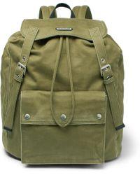 Saint Laurent - Noe Washed-canvas Backpack - Lyst