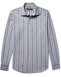 Freemans Sporting Club - Hopkins Jacquard Cotton-chambray Shirt - Lyst