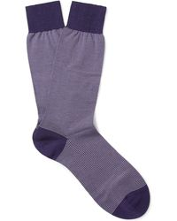 Pantherella - Seymour Striped Cotton-blend Socks - Lyst