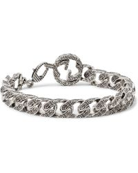 Gucci - Rhodium-plated Chain Bracelet - Lyst
