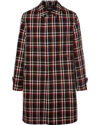 Undercover - Reflective-trimmed Checked Wool Coat - Lyst