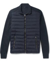 Tom Ford - Ribbed Wool And Quilted Shell Down Jacket - Lyst