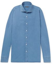 Tom Ford - Slim-fit Cotton And Lyocell-blend Chambray Shirt - Lyst