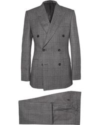 Kingsman - Grey Double-Breasted Glen Check Suit - Lyst