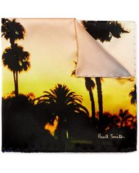 Paul Smith | Printed Silk Pocket Square | Lyst