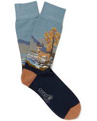 Corgi - Intarsia Cotton-blend Socks - Lyst