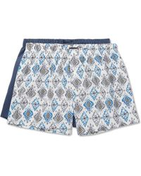 Hanro   Two-pack Cotton-poplin Boxer Shorts   Lyst