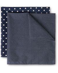 Derek Rose Two-pack Cotton Handkerchiefs - Blue