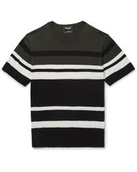 Todd Snyder - Slim-fit Striped Silk And Cotton-blend Jumper - Lyst