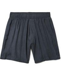 The Elder Statesman - Hammered-silk Drawstring Shorts - Lyst