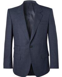 Kingsman - Eggsy's Navy Puppytooth Wool Suit Jacket - Lyst