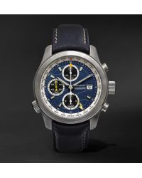 Bremont - Alt1-wt/bl World Timer Automatic Chronograph 43mm Stainless Steel And Leather Watch - Lyst