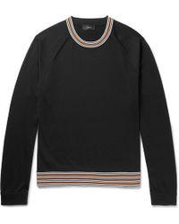 JOSEPH - Contrast-trimmed Jersey Sweater - Lyst