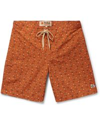 Mollusk - Long-length Printed Cotton-blend Swim Shorts - Lyst