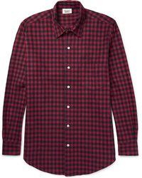 Sleepy Jones - Hoffman Checked Cotton-flannel Pyjama Trousers - Lyst