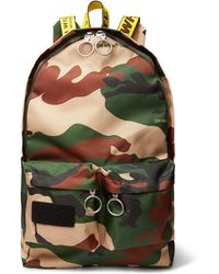 Off-White c/o Virgil Abloh - Logo-trimmed Camouflage-print Canvas Backpack - Lyst