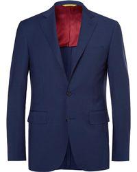 Canali - Navy Kei Slim-fit Wool Suit Jacket - Lyst