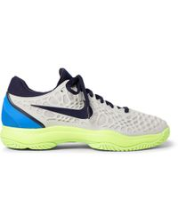 timeless design fbe25 36f13 Nike - Air Zoom Cage 3 Hc Rubber And Mesh Tennis Sneakers - Lyst