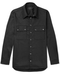 JOSEPH - Weston Wool-blend Flannel Shirt - Lyst