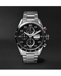 Tag Heuer - Carrera Automatic Chronograph 43mm Polished-steel Watch - Lyst