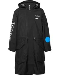 Nike - + Off-white Printed Shell Hooded Coat - Lyst
