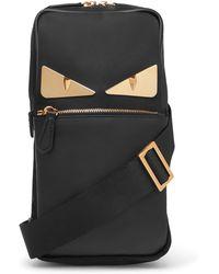Fendi - Embellished Leather Messenger Bag - Lyst