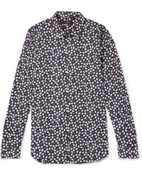 Theory - Irving Printed Stretch-cotton Shirt - Lyst