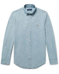 Polo Ralph Lauren - Slim-fit Washed Cotton-chambray Shirt - Lyst