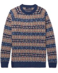 Lardini - Fair Isle Wool-blend Sweater - Lyst