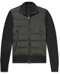 Tom Ford - Shell-panelled Merino Wool Down Jacket - Lyst